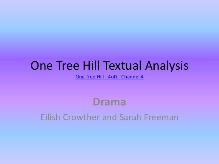 One Tree Hill Textual AnalysisOne Tree Hill - 4oD - Channel 4<br />Drama<br />Eilish Crowther and Sarah Freeman<br />