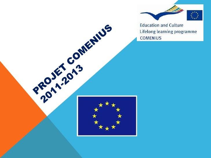 Projet Comenius 2011-2013<br />