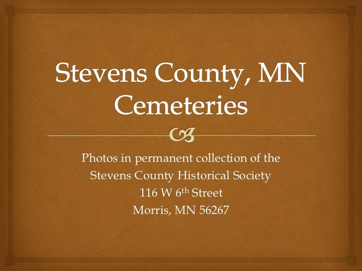 Stevens County, Minnesota-Cemeteries