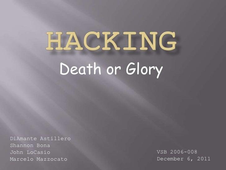 Death or GloryDiAmante AstilleroShannon BonaJohn LoCasio               VSB 2006-008Marcelo Mazzocato          December 6, ...