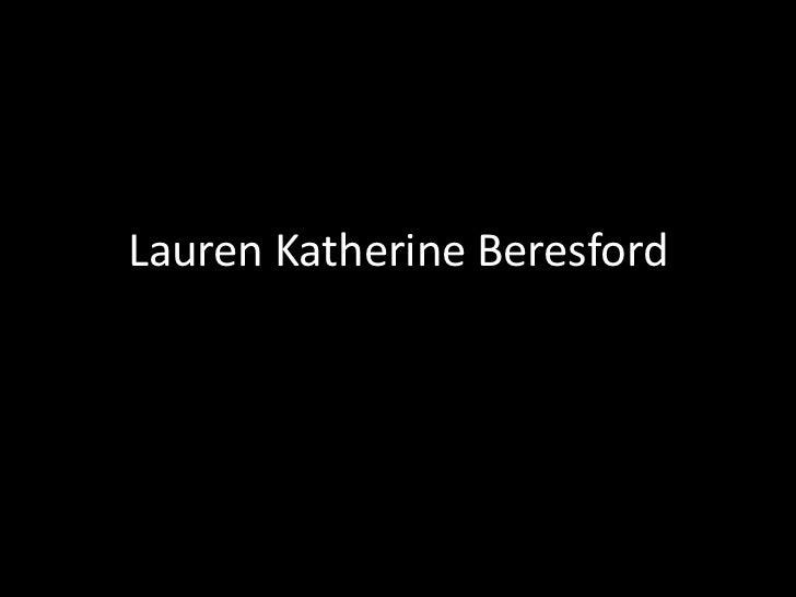 Lauren Katherine Beresford