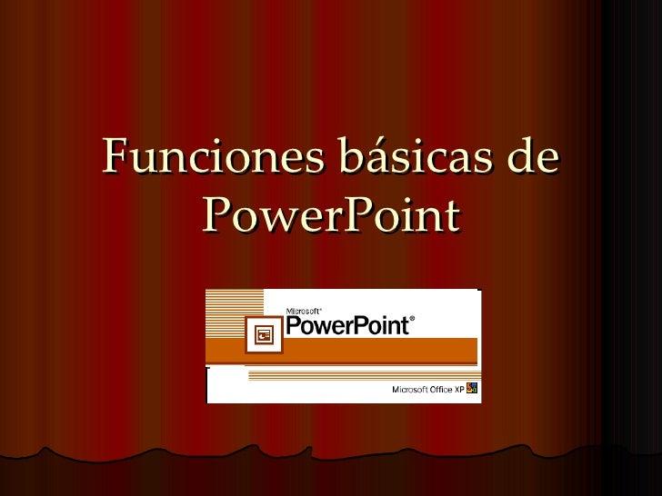 Funciones básicas de PowerPoint