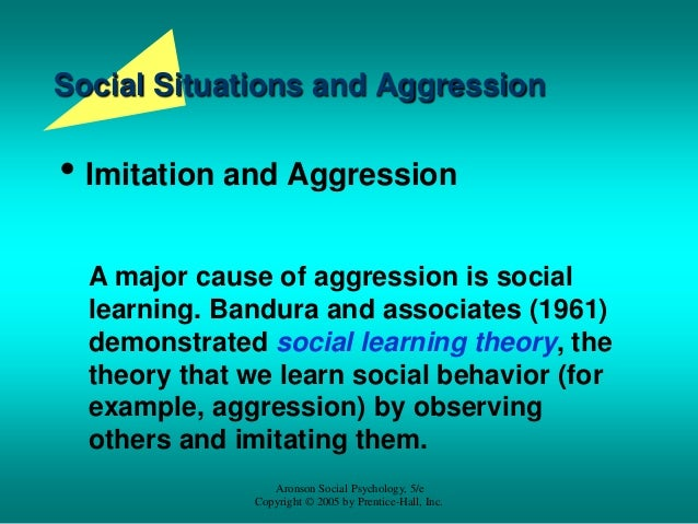 Supplemental content 24 aggression for Aronson and associates