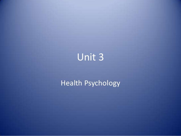Health Psychology Revision