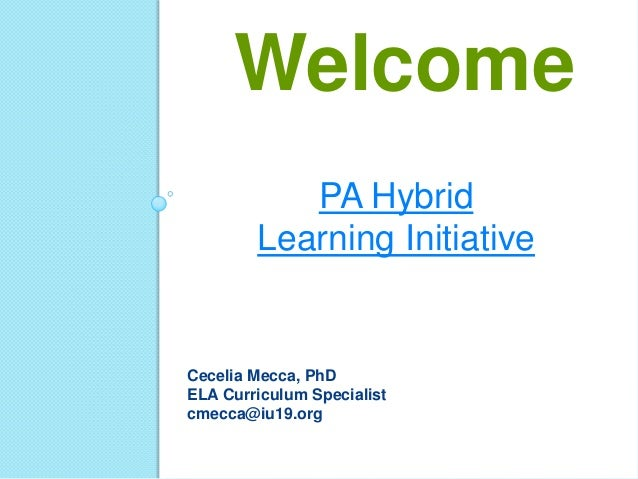 Into to Hybrid Learning: Rotations & Lesson Planning