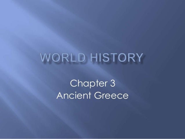 Chapter 3 Ancient Greece