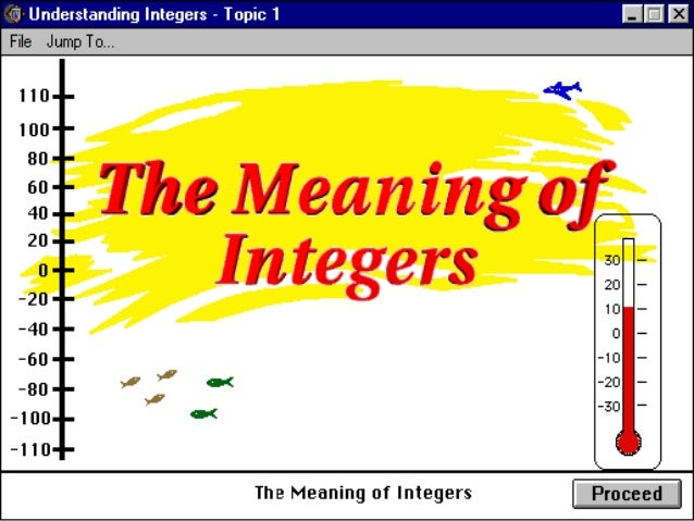 Integers • Integers are whole numbers that describe opposite ideas in mathematics. • Integers can either be negative(-), p...
