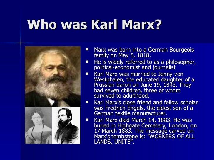 life of karl marx essay
