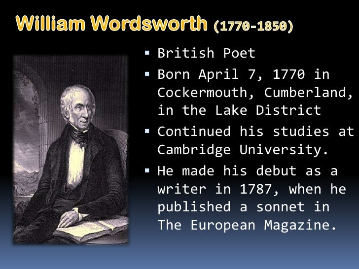an analysis of the characters in the poetry of william wordsworth Critical analysis of lucy gray by william wordsworth lucy gray is a poem written by william wordsworth in 1798 a character named lucythe poem is.