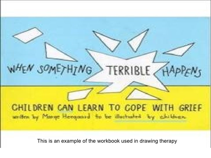 This is an example of the workbook used in drawing therapy