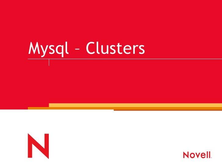 Mysql – Clusters