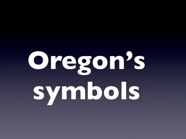 Oregon'ssymbols