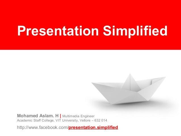 Powerpoint presentation-simplified