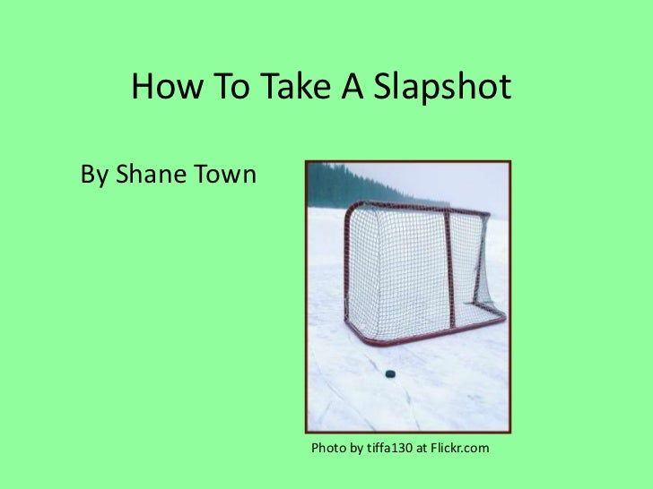 How To Take A SlapshotBy Shane Town                Photo by tiffa130 at Flickr.com