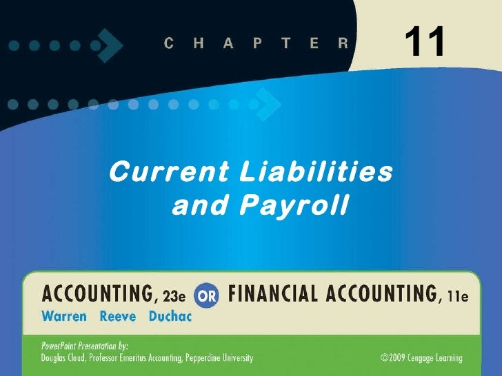 Current Liabilities and Payroll 11
