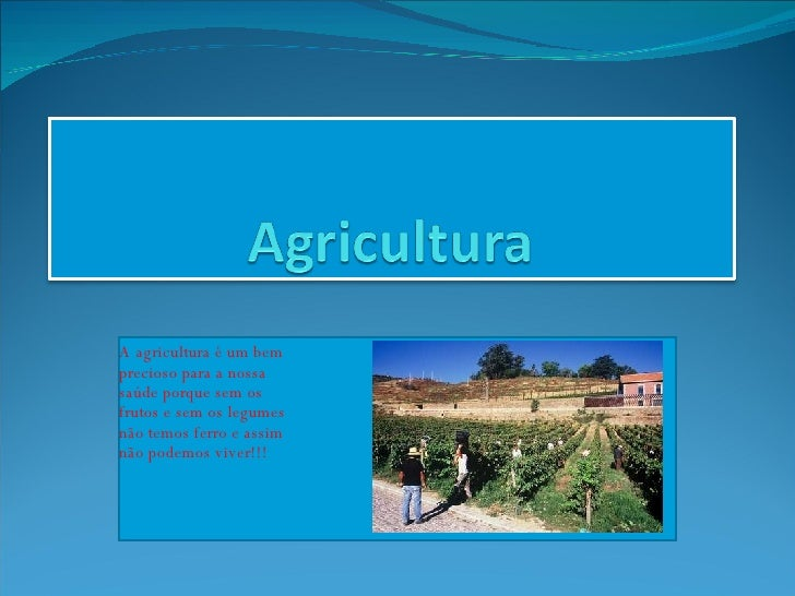 Powerpoint Sobre A Agricultura