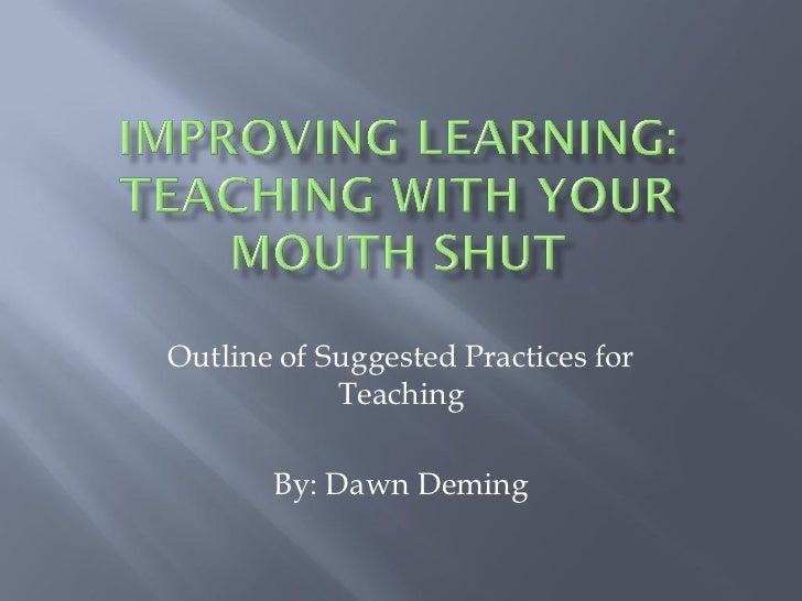 Powerpoint- summary of inquiry based teaching/finkel