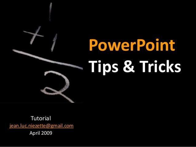 Powerpoint tips-and-tricks