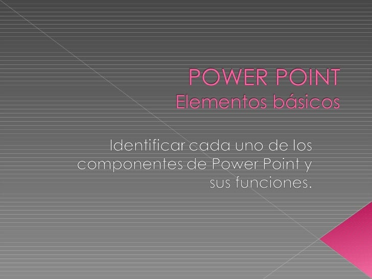 Elementos básicos de power point