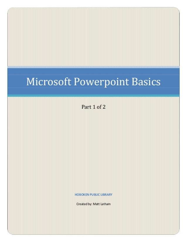 Microsoft Powerpoint part 1