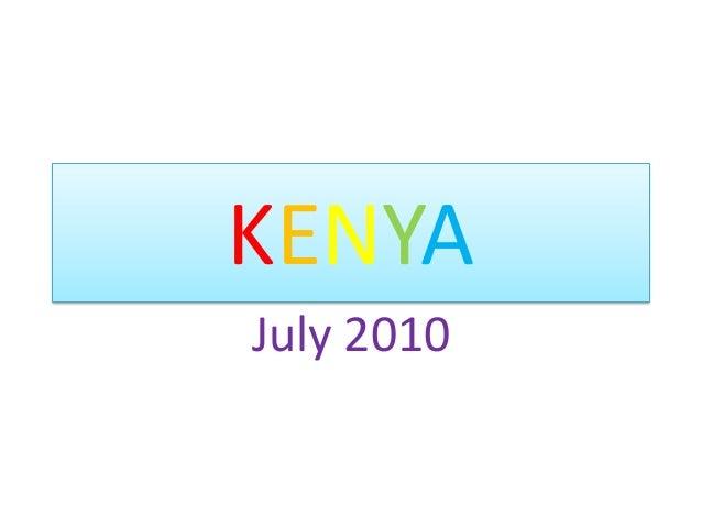 KENYAJuly 2010