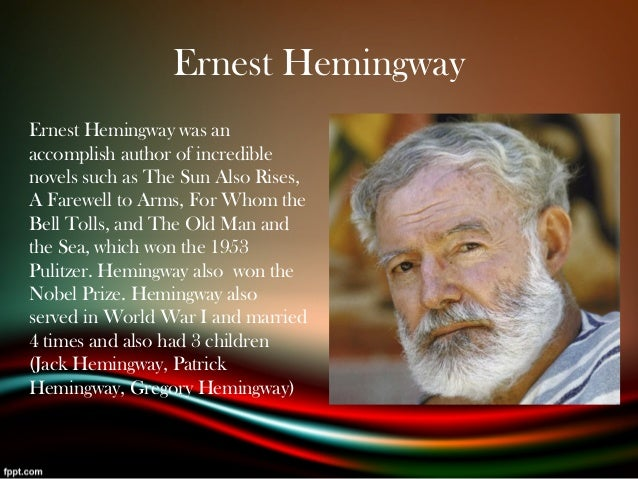 a biography and life work of ernest hemingway an american author Ernest hemingway biography american author and journalist whose unique writing style had a strong influence on 20th in pain for the rest of his life.