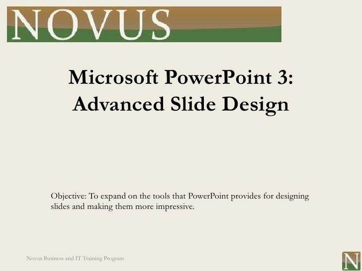 PowerPoint Lesson 3: Advanced Slide Design