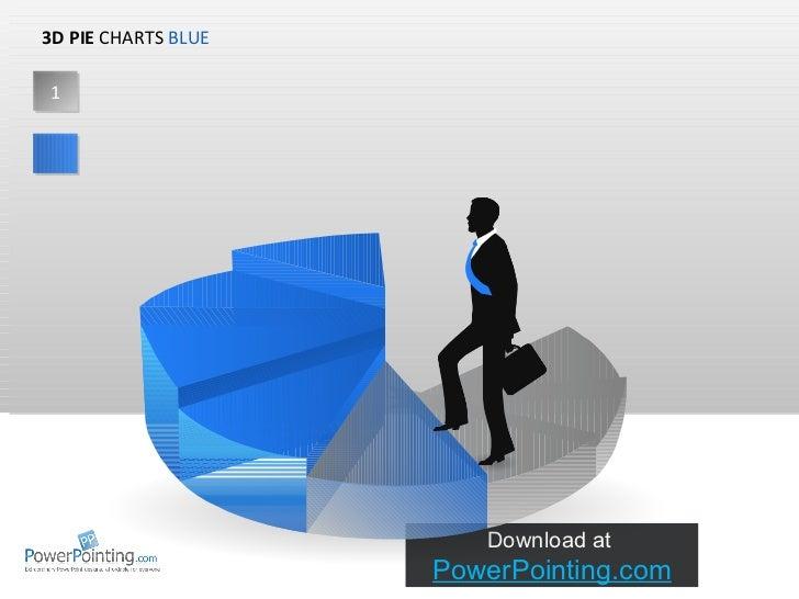 Powerpoint 3d Charts Nondata Driven Blue