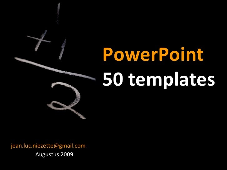PowerPoint Tutorial Presentation - 50 Templates