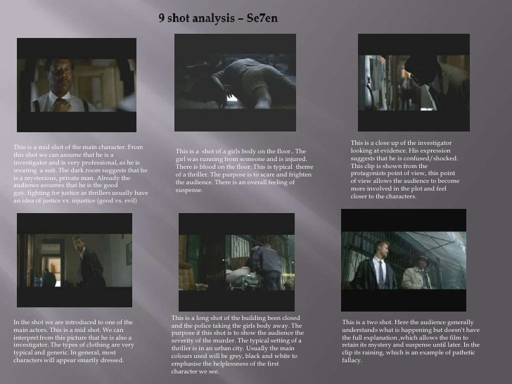 9 shot analysis of Se7en