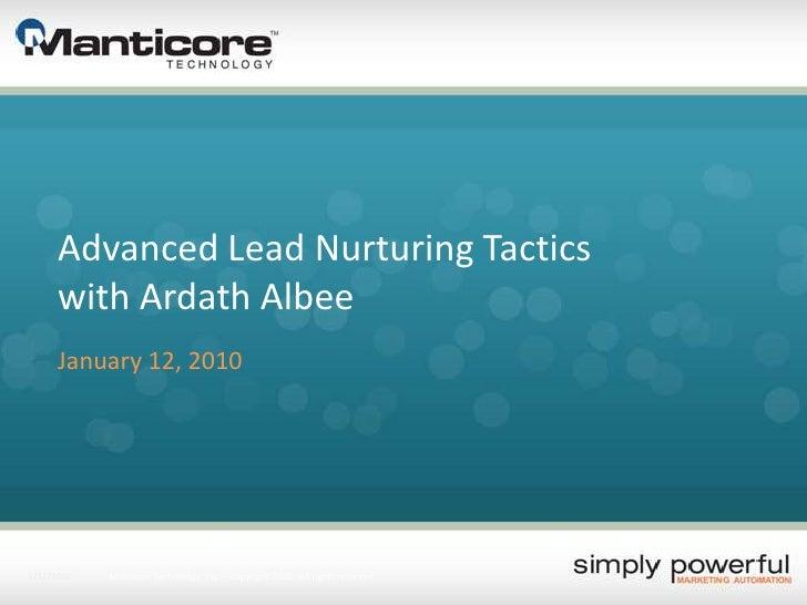 Advanced Lead Nurturing Tactics with Ardath Albee