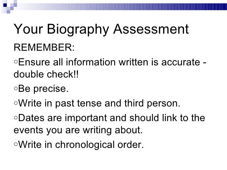how long should a biographical essay be It can be particularly difficult to use common threads in biographical essays, but that is where they are most important unfortunately, there will never be enough space to tell your complete story instead, you should use a common thread to convey the primary point you want admissions officers to understand about yourself.