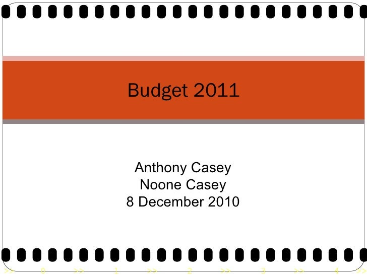 Budget 2011 Anthony Casey Noone Casey 8 December 2010