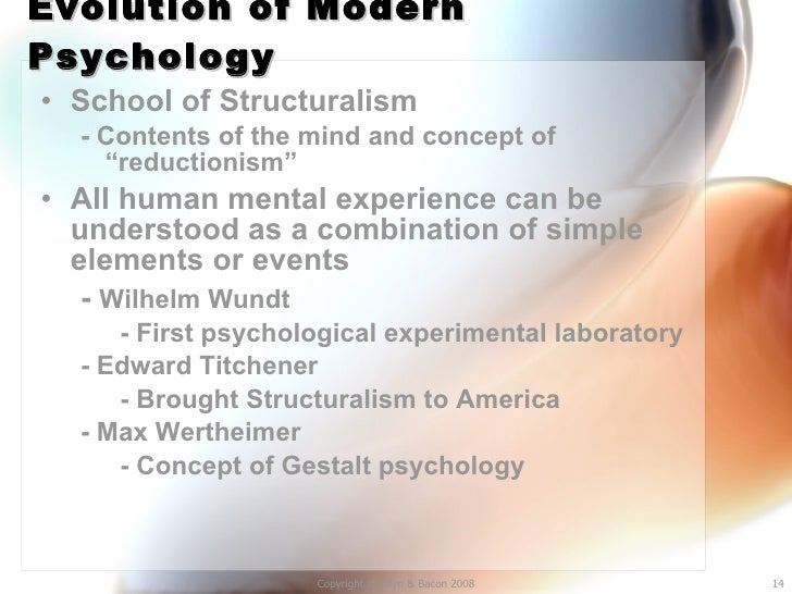 structuralism pyschology essay Wilhelm wundt essay textbook authors frequently refer to wundt as the father of modern wundt's approach to psychology became known as structuralism.