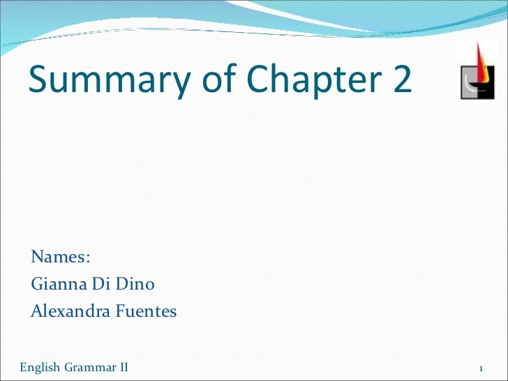 Powerpoint chapter 2 (di dino fuentes)
