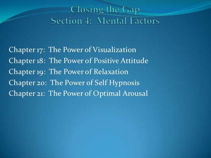 Section IV:  Mental Factors
