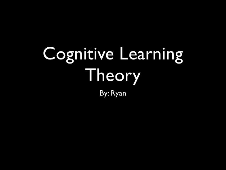 Cognitive Learning     Theory        By: Ryan