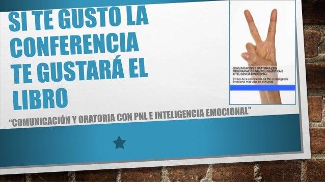 El libro de la Conferencia de PNL e Inteligencia Emocional más vista en el mundo