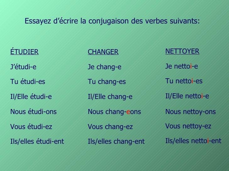 Powerpoint Conjugaisons