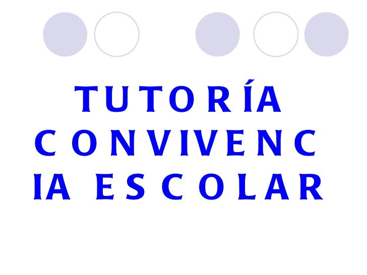TUTOR ÍA CONVIVENCIA ESCOLAR