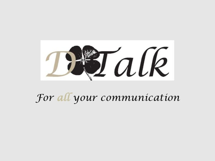 For all your communication