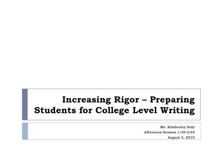 Day 2_Session II_Increasing rigor_writing