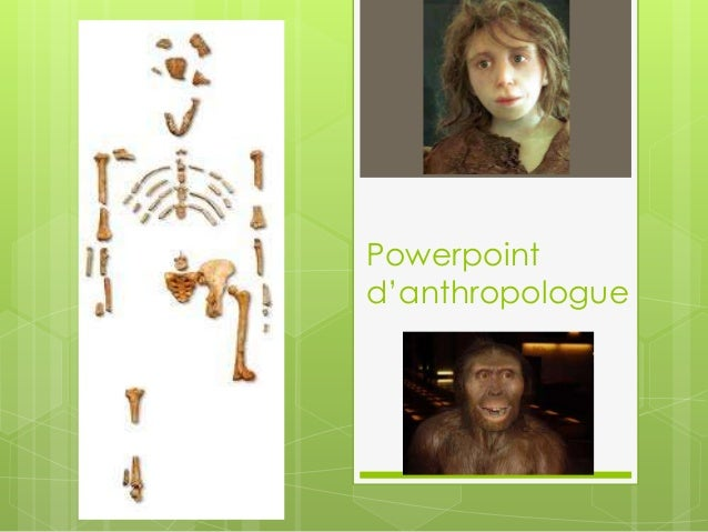 Powerpoint d'anthropologue
