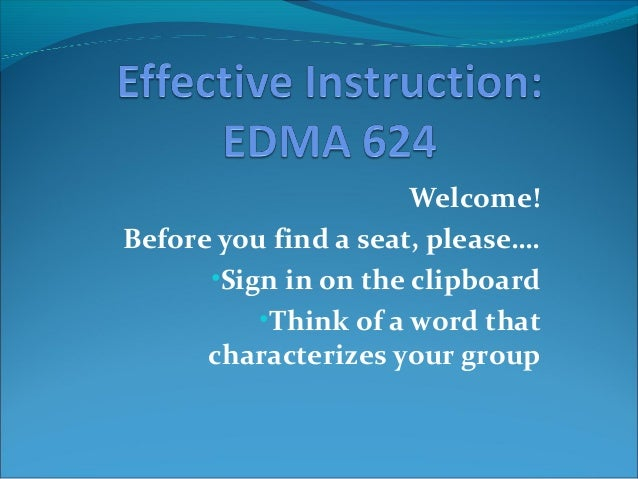Welcome!Before you find a seat, please….•Sign in on the clipboard•Think of a word thatcharacterizes your group