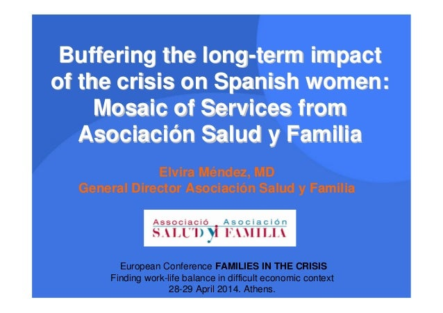 Buffering the long-term impact of the crisis on Spanish women: Mosaic of Services from Asociación Salud y Familia