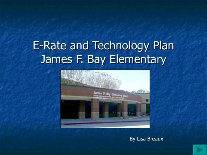 Power point e rate and technology plan