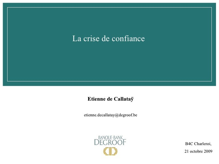Présentation Etienne de Callatay