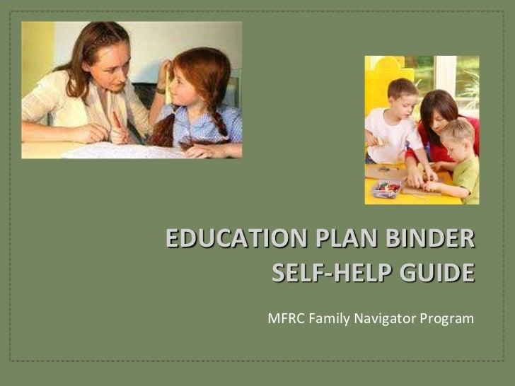 Education Plan Binder