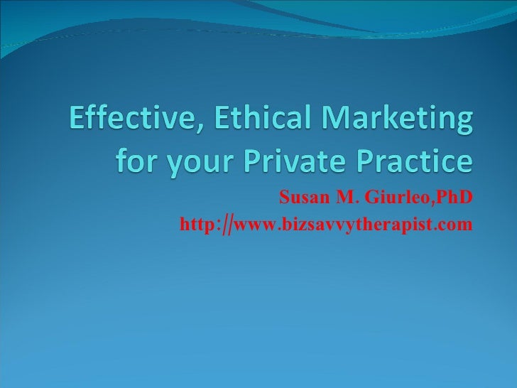 Power Point Ethical Effective Marketing