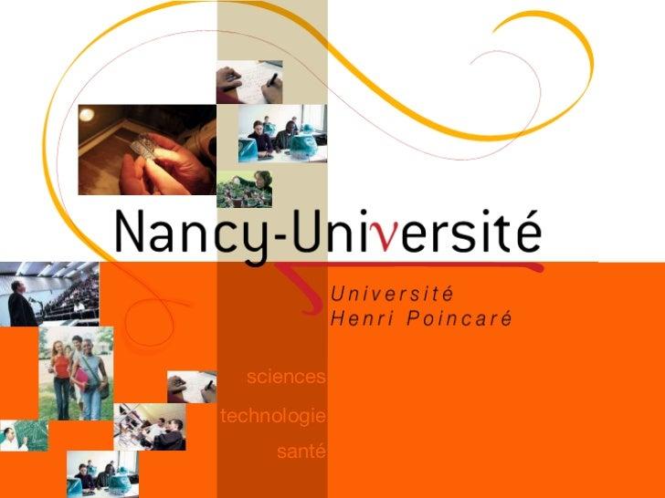 L'Université Henri Poincaré, UHP, présentée à ses nouveaux étudiants